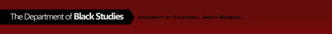 Department of Black Studies - UC Santa Barbara